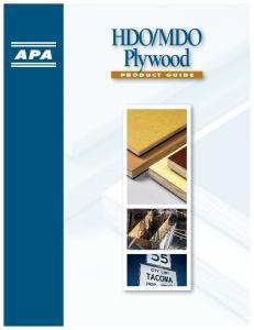 MDO Plywood P r o d u c t G u i d e