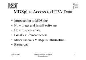 MDSplus access to ITPA Data