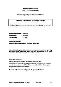 ME1105 Engineering Drawing & Design