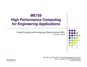 ME759 High Performance Computing for Engineering Applications