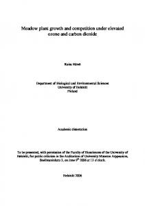 Meadow plant growth and competition under elevated ozone and carbon dioxide