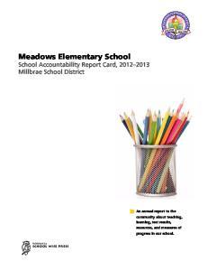 Meadows Elementary School School Accountability Report Card, Millbrae School District