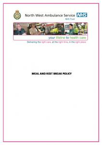 MEAL AND REST BREAK POLICY