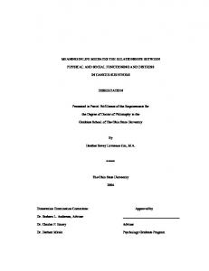 MEANING IN LIFE MEDIATES THE RELATIONSHIPS BETWEEN PHYSICAL AND SOCIAL FUNCTIONING AND DISTRESS IN CANCER SURVIVORS DISSERTATION