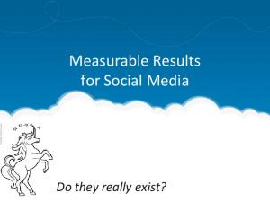 Measurable Results for Social Media. Do they really exist?