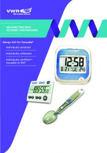 MEASURE TIME WITH ACCURACY AND PRECISION. Always Ask For Traceable. Individually serialised. Individually calibrated