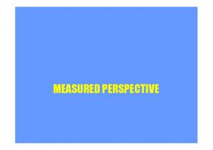 MEASURED PERSPECTIVE