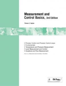 Measurement and Control Basics, 3rd Edition