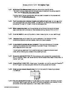 Measurement Form: 10 Helpful Tips