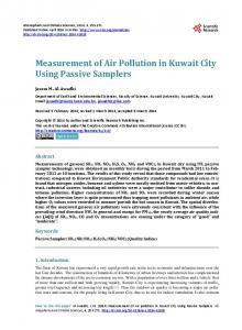 Measurement of Air Pollution in Kuwait City Using Passive Samplers