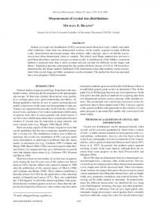 Measurement of crystal size distributions