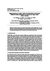 Measurement of indoor radon concentration and actual effective dose estimation of schools at high radon area in Korea