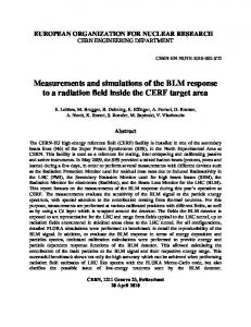 Measurements and simulations of the BLM response to a radiation field inside the CERF target area