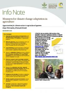 Measures for climate change adaptation in agriculture