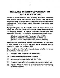 MEASURES TAKEN BY GOVERNMENT TO TACKLE BLACK MONEY