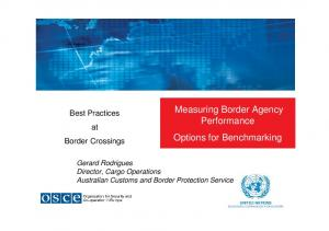 Measuring Border Agency Performance Options for Benchmarking