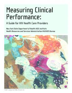 Measuring Clinical Performance: A Guide for HIV Health Care Providers