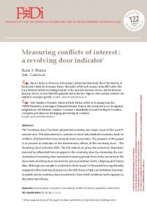 Measuring conflicts of interest : a revolving door indicator *