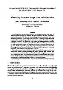 Measuring document image skew and orientation