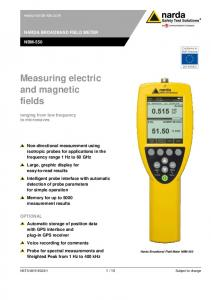 Measuring electric and magnetic fields