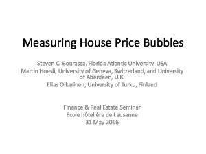 Measuring House Price Bubbles