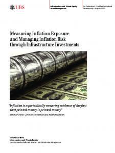 Measuring Inflation Exposure and Managing Inflation Risk through Infrastructure Investments