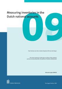Measuring inventories 0n Dutch national nal accounts