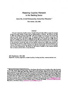 Measuring Liquidity Mismatch in the Banking Sector