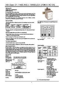 Measuring output A Output signals: 0.9-cap-1-ind cap-1-ind-0