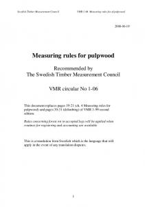Measuring rules for pulpwood