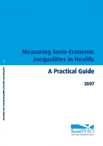 measuring socio-economic inequalities in health: a practical guide 2007 Measuring Socio-Economic Inequalities in Health: A Practical Guide