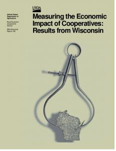 Measuring the Economic Impact of Cooperatives: Results from Wisconsin