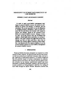 MEASURING THE INTEREST RATE SENSITIVITY OF LOSS RESERVES. Abstract