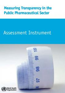 Measuring Transparency in the Public Pharmaceutical Sector. Assessment Instrument