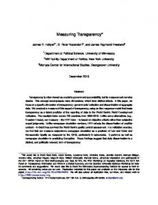 Measuring Transparency