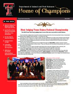 Meat Judging Team Claims National Championship