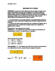 MECANICA DE FLUIDOS [ ] kg m