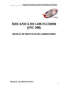 MECANICA DE LOS FLUIDOS (INC-308)
