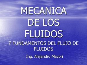 MECANICA DE LOS FLUIDOS
