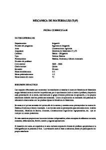MECANICA DE MATERIALES (TyP)