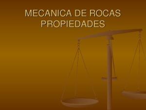 MECANICA DE ROCAS PROPIEDADES