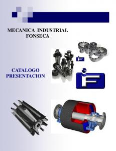 MECANICA INDUSTRIAL FONSECA CATALOGO PRESENTACION