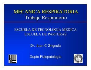 MECANICA RESPIRATORIA Trabajo Respiratorio