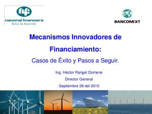 Mecanismos Innovadores de Financiamiento: