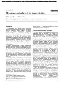Mecanismos moleculares de los glucocorticoides