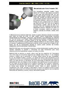 Mecanizado para Torno Fresador CNC