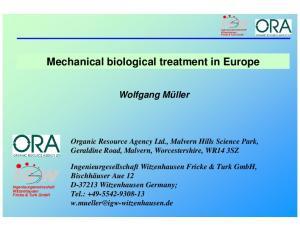 Mechanical biological treatment in Europe