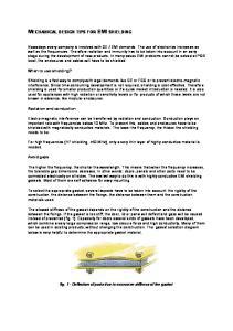 MECHANICAL DESIGN TIPS FOR EMI SHIELDING