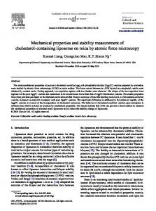 Mechanical properties and stability measurement of cholesterol-containing liposome on mica by atomic force microscopy