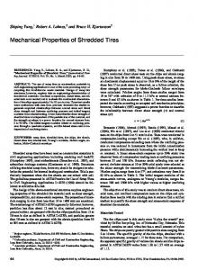 Mechanical Properties of Shredded Tires